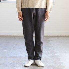fine wool cotton pants チャコールグレー
