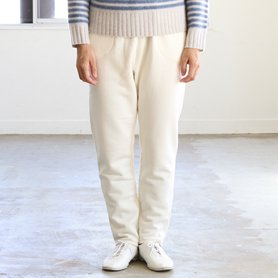 fine wool cotton pants アイボリー