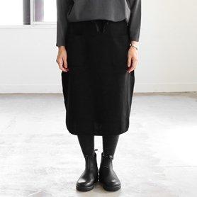 knit skirt ブラック