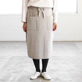 knit skirt グレー