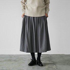 mug check skirt グレー×イエロー[30%OFF]
