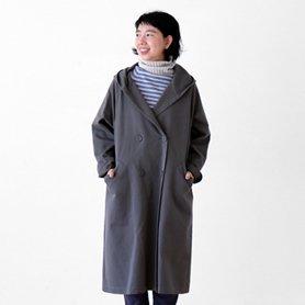 cotton wool chino coat グレー