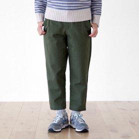 cotton wool chino pants カーキ