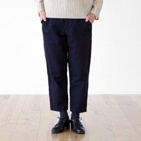 cotton wool chino pants ネイビー