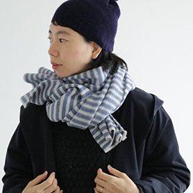 cloud border knit stall ブルーボーダー[30%OFF]