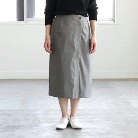 グリーフラネルのコットンスカート
