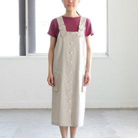 グリーシエルのリネンジャンパースカート
