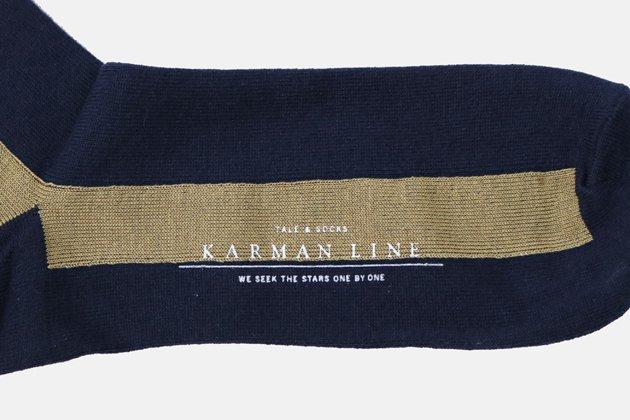 「KARMAN LINE(カーマンライン)」のメンズGEMINI(双子座)Iライン配色の靴下