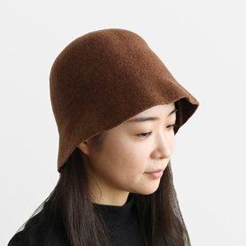 MKF-24130 bell hat lamb ブラウン
