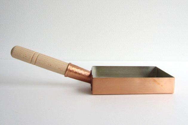 工房アイザワの純銅製玉子焼き器