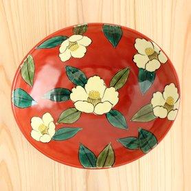吉臣窯 山茶花鉢