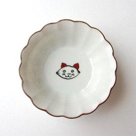 KUTANI SEAL(クタニシール)菊小鉢 子猫