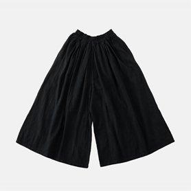 キュロットワイドパンツ ブラック