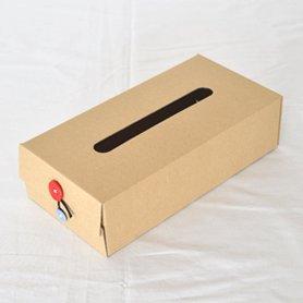 Button Tissue Box 赤