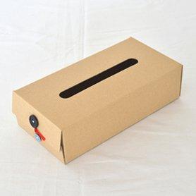 Button Tissue Box 黒
