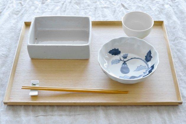 「CLASKA(クラスカ)」の白木塗トレイ(タモ1尺4寸/長角)