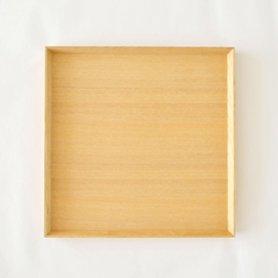 白木塗トレイ タモ8.5寸 正角