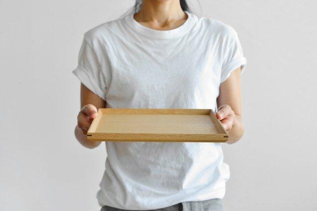 「CLASKA(クラスカ)」の白木塗トレイ(タモ8.5寸/正角)
