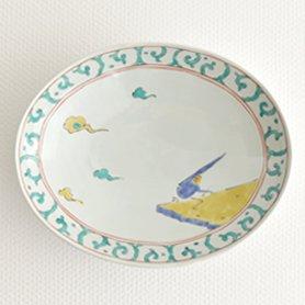 錦唐草鳥紋 楕円鉢