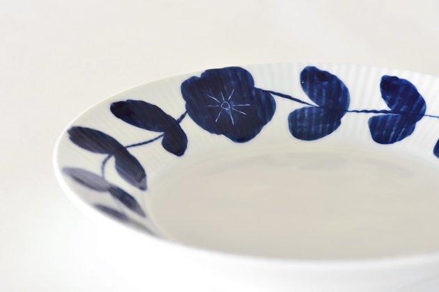 皓洋窯の花つなぎ7寸皿