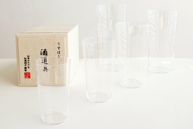 松徳硝子のうすはり酒道具