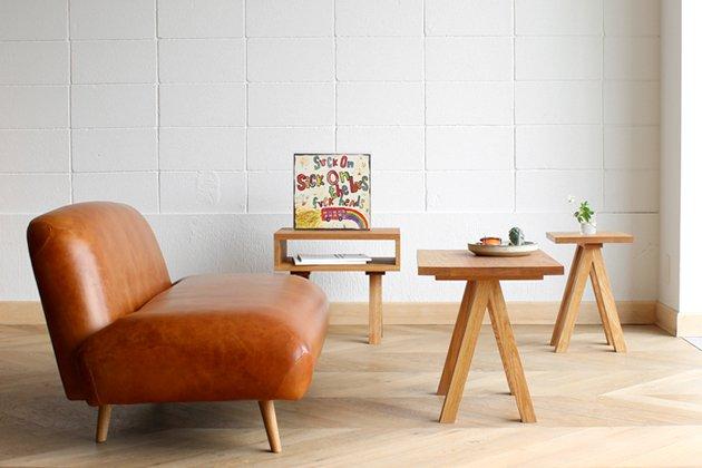 「CLASKA(クラスカ)」のローテーブル「Wood Brace サイドテーブル」