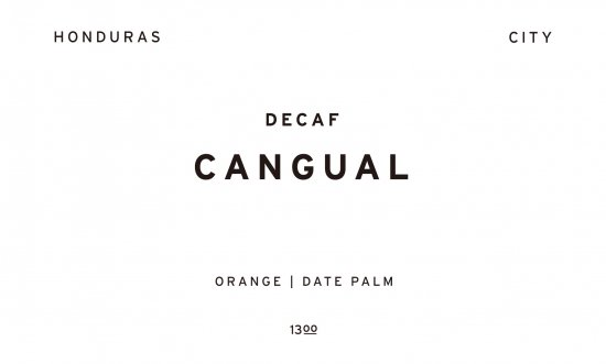 DECAF CANGUAL | HONDURAS