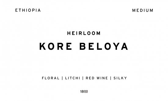 KORE BELOYA     ETHIOPIA  /200g