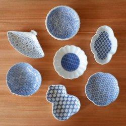 東屋 印判 豆皿 ひょうたん / 木瓜 / ひまわり / 扇 / たんぽぽ / 桃 / 梅 手作り和食器