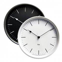 電波時計 掛け時計 北欧 シンプル レムノス RIKI STEEL CLOCK RC WR0824(BK) 音なしのスイープムーブ