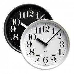 電波時計 掛け時計 北欧 シンプル レムノス RIKI STEEL CLOCK RC WR0825(BK) 音なしのスイープムーブ