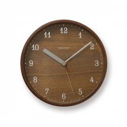 掛け時計 北欧 木製 プライウッド スイープムーブメント レムノス ブラウニークロック(S)
