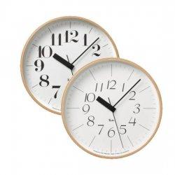 電波時計 掛け時計 北欧 木製 おしゃれ レムノス RIKI CLOCK RC WR0710/WR0711(M)