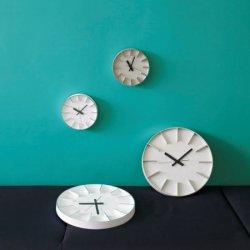 掛け時計 北欧 シンプル 静かなスイープムーブメント レムノス AZUMI edge clock (S) AZ0116 ホワイト