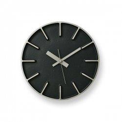 掛け時計 北欧 シンプル 静かなスイープムーブメント レムノス AZUMI edge clock (S) AZ0116 ブラック