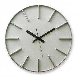 掛け時計 北欧 シンプル 静かなスイープムーブメント レムノス AZUMI edge clock (L) AZ0115 アルミ
