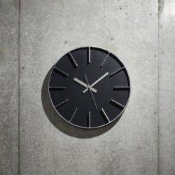 掛け時計 北欧 シンプル 静かなスイープムーブメント レムノス AZUMI edge clock (L) AZ0115 ブラック