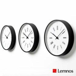 掛け時計 電波時計 北欧 シンプル プライウッド レムノス 時計台の時計 KK13-16 Line Arabic Roman