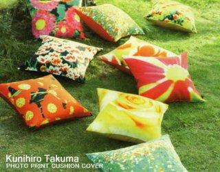 デザインクッションカバー フラワーシリーズ KunihiroTakumaのフォトプリントクッション