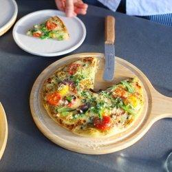 木製食器 ラウンドカッティングボード ROUND BOARD 鍋敷き ピザプレート