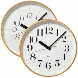 電波時計 北欧 木製 おしゃれ レムノス RIKI CLOCK RC WR0826(L) 音なしのスイープムーブ