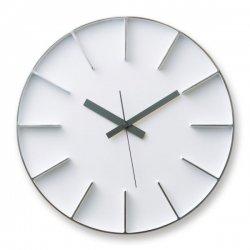 掛け時計 北欧 シンプル 静かなスイープムーブメント レムノス AZUMI edge clock (L) AZ0115 ホワイト