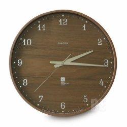 掛け時計 電波時計 北欧 木製 おしゃれ レムノス ブラウニークロック(L)