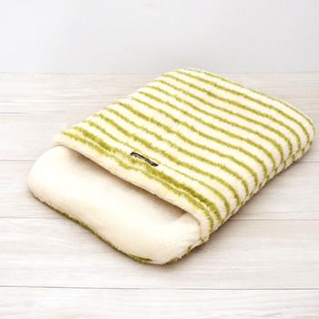 ボーダー吸湿発熱おふとん寝袋 Lサイズ