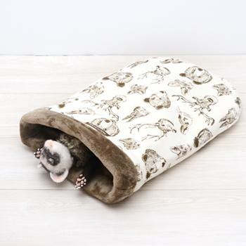 ニット 森の動物寝袋 M