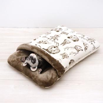 ニット 森の動物おふとん寝袋 M
