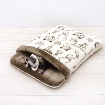 ニット 森の動物おふとん寝袋 L