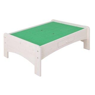 天然木プレイテーブル 120cm幅 ホワイト 【送料無料】