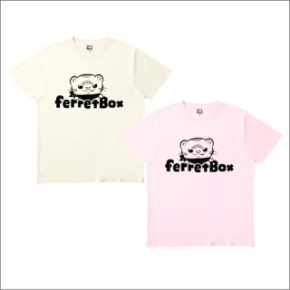 ferret boxモノクロロゴ Tシャツ