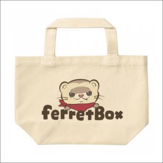 ferret boxカラーロゴ キャンパストート Sサイズ